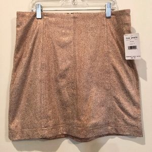 Free People Mini Skirt (Metallic Flecks)
